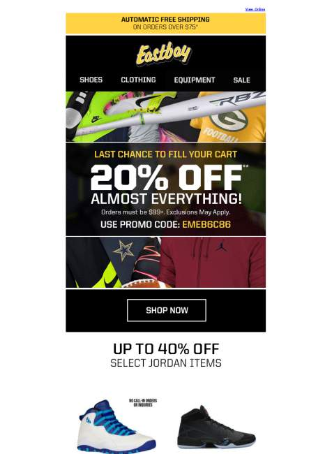 Eastbay.com coupon code
